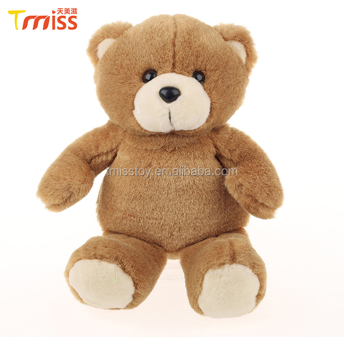 Fashionable stuffed style children sleepy toy plush toy brown teddy bear