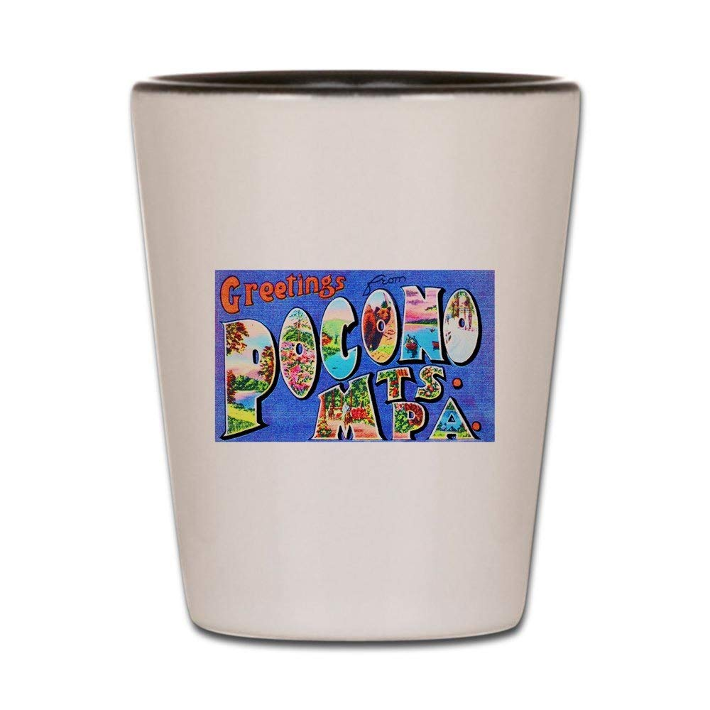 CafePress - Pocono Mts. Pennsylvania - Shot Glass, Unique and Funny Shot Glass
