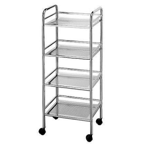4 layers metal rolling display cart