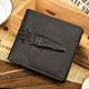 Genuine Leather Man Wallet High quality Crocodile 3D purse Classic black bifold Designer male Wallet