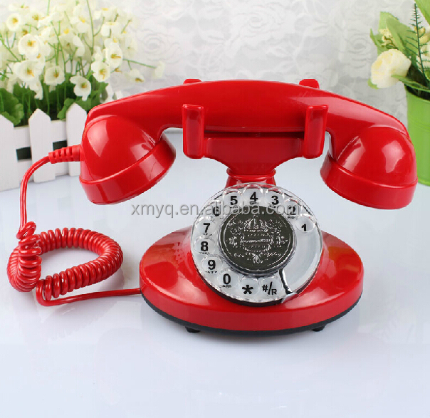 Old Style Fashioned Classic Landline Phone Vintage Desk