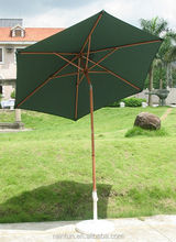 2016 wooden patio umbrella