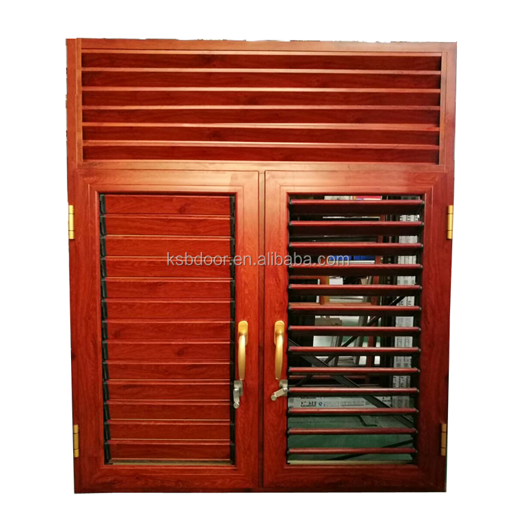 China factory large aluminium glass window good quality louver windows and doors