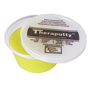3 Ounce Theraputty Exercise Material [Set of 2] Color / Texture: Yellow / X-Soft