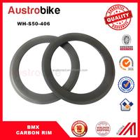 cheap carbon fiber bmx bicycle wheels 20 inch rims clincher 50mm BMX Bike 3K/12K/UD