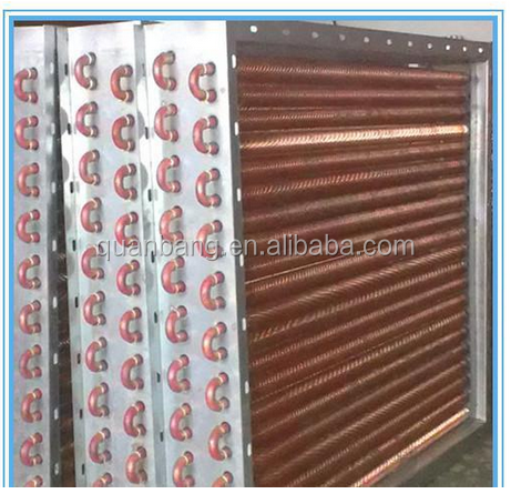 Copper finned tube refrigerant water heat exchanger radiator