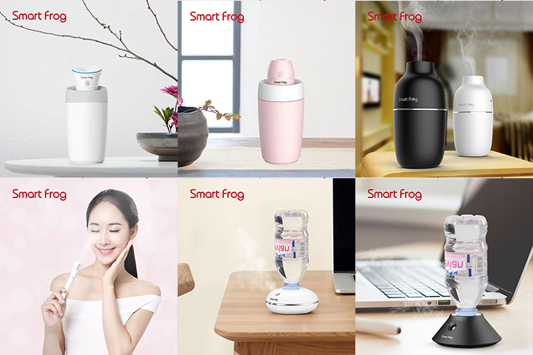 Cheap ultrasonic water bottle air humidifier aromatherapy 250ml for office or living room