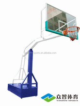 2017 luxury box-type movable buried leisure movable 3-player type basketball stands