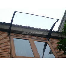 single polycarbonate DIY window awning for sun and rain