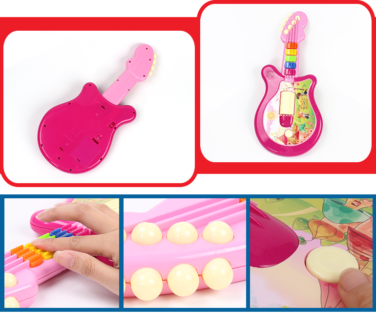 Most popular good educational electronic musical rock kids guitar with light