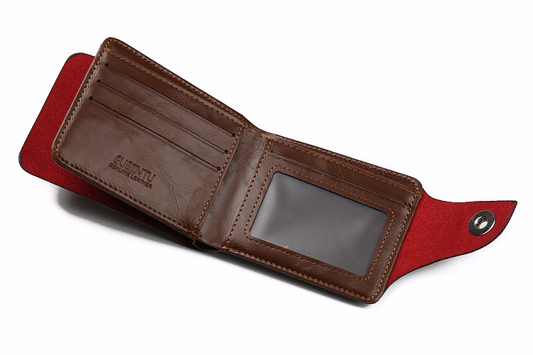 Crazy horse Bailini man wallet and purse with magnetic snap