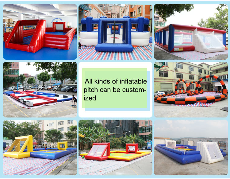13.5 x 6.5m Inflatable bubble soccer field games inflatable toys billiards inflatable pitch for sale