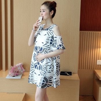 4e7dcdf0909 NS0380 summer pregnant ladies casual dresses women summer cotton maternity  dresses