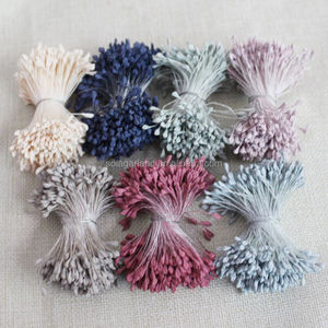 High Quality Multicolor DIY Artificial Peony Malt Flower Stamen Pistils Floral Flower Stamens For Flowers