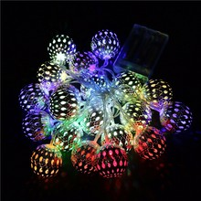 Muti-color RGB Round Ball Fairy Lights , Powered By 3pcs AA Battery Led String Lights For Christmas