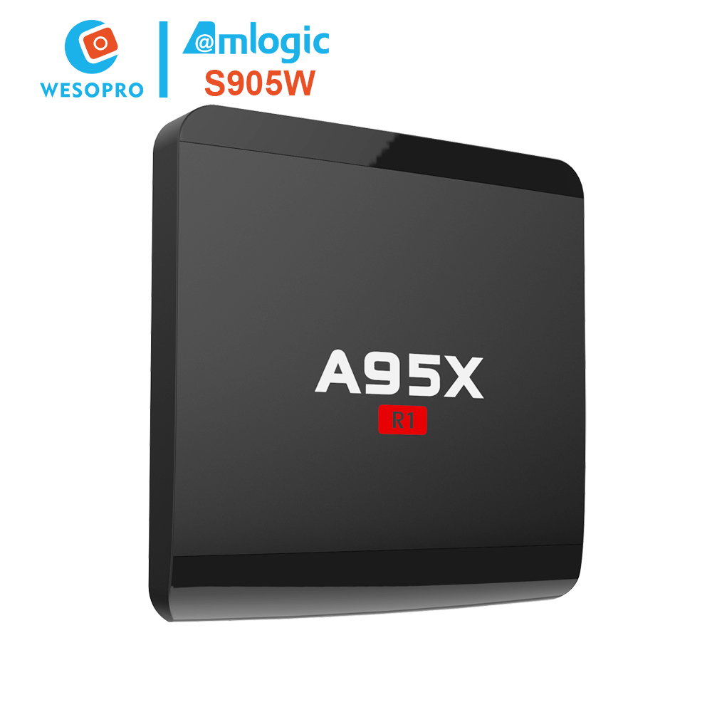 Private label A95X R1 android tv box quad core xbmc jailbreak with amlogic S905W for Wholesaler