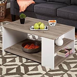 Get Quotations · Simple Living Urban 3 Shelves Coffee Table Particle Board/  PVC Laminated With Reclaimed Look