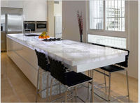 unique design white marble looks like crystal marble table
