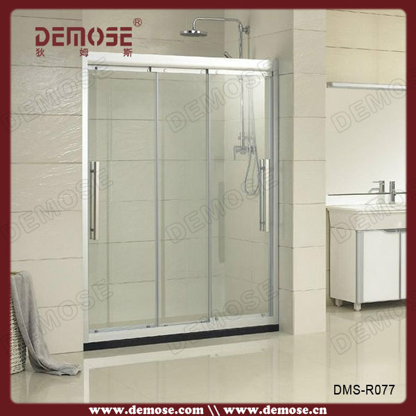 3 panel sliding doors spare parts tempered shower for Three panel sliding glass door