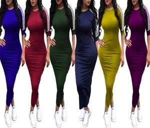 SYA8221 wholesale plus size solid bandage pencil maxi dresses for women