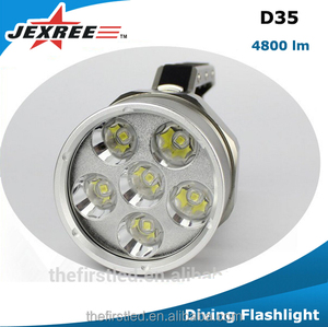 Jexree D35 Scuba Led Diving Flashlight with 6000 Lumens 26650/32650 Li-ion Battery Magnetic Switch Dive Lights