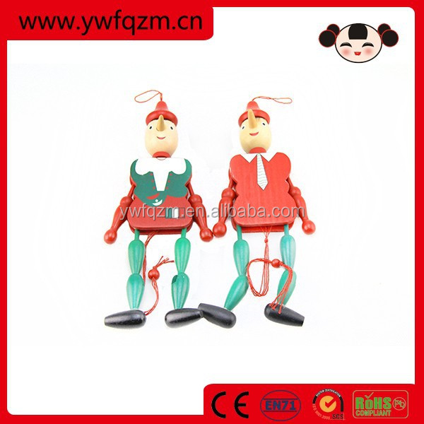 30cm handmade crafts pinocchio wooden pinocchio toy for sale
