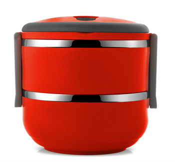Stainless Steel Red Tiffin Box Lunch Box 2 Tier Buy