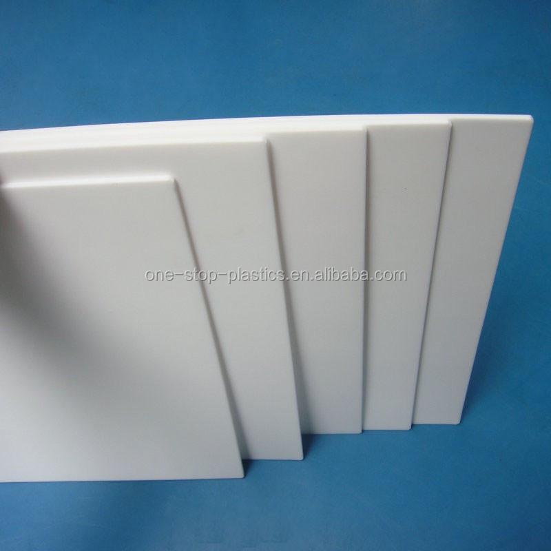 Non Adhesiveness Teflon Pfa Sheet White Hard Plastic Sheet