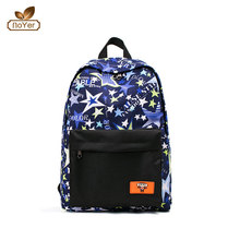 China hot selling women's canvas leisure travel bag printed student used school backpacks