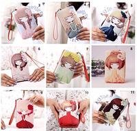 SpainFashion Girls Custom Print Slim Leather Cell Phone Credit Card Holder Money Clip Inside Wholesale 2016 Ladies Wallet