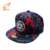 Custom 6 Panel Canvas Printed Hats American Flat Bill Sport 3D Embroidered Snapback Hat