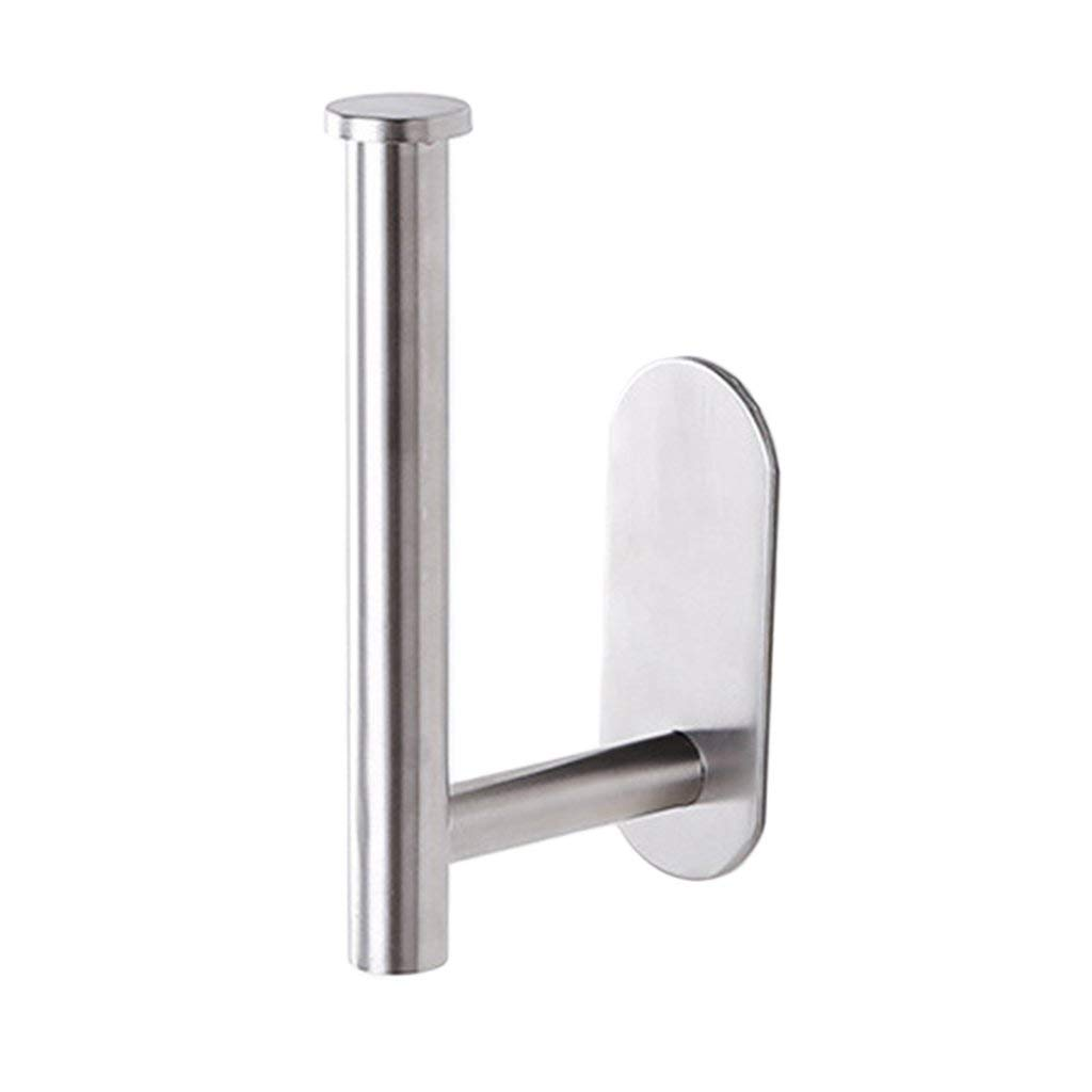 MagiDeal Stainless Steel Toilet Tissue Holder Bathroom Paper Roll Towel Stand Wall Mounted Towel Napkin Rack