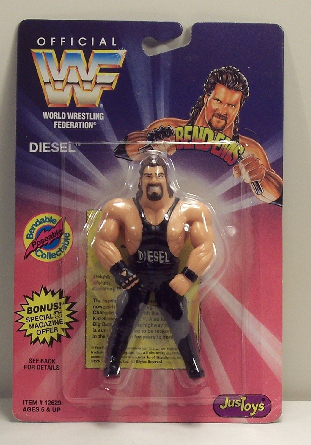 Official WWF Stone Cold Steve Austin and Bret /'Hitman/' Hart Bend-Ems