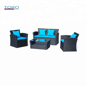 New 4pcs Wicker sofa set Rattan Patio Set Garden Sofa Furniture Seat
