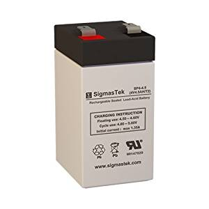 SLA0826 4 Volt 4.5 AmpH SLA Replacement Battery with F2 Terminal