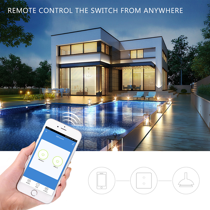 110~250V beyond  WiFi Wireless switch Smart Home Light switch Remote Control touch smart Switch decorate