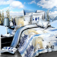 White bear design 3D wholesale comforter sets bedding