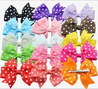 Factory direct supply hair bows made ribbon