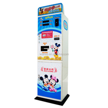 Coin change vending machine for coin operated game machine