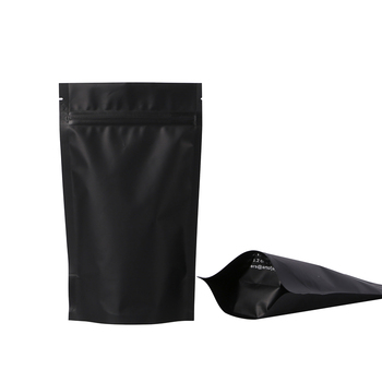 black and white tea coffee pouch bag packing 100g 250g 500g 1 kg stand up pouch with zipper and valve