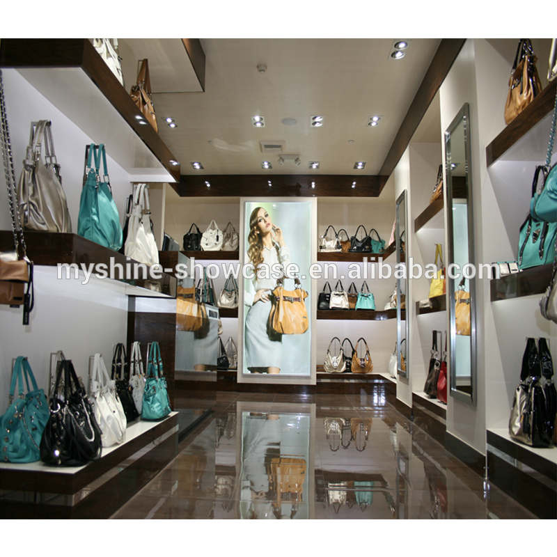 Shopping mall retail kiosk hand bags display cabinet