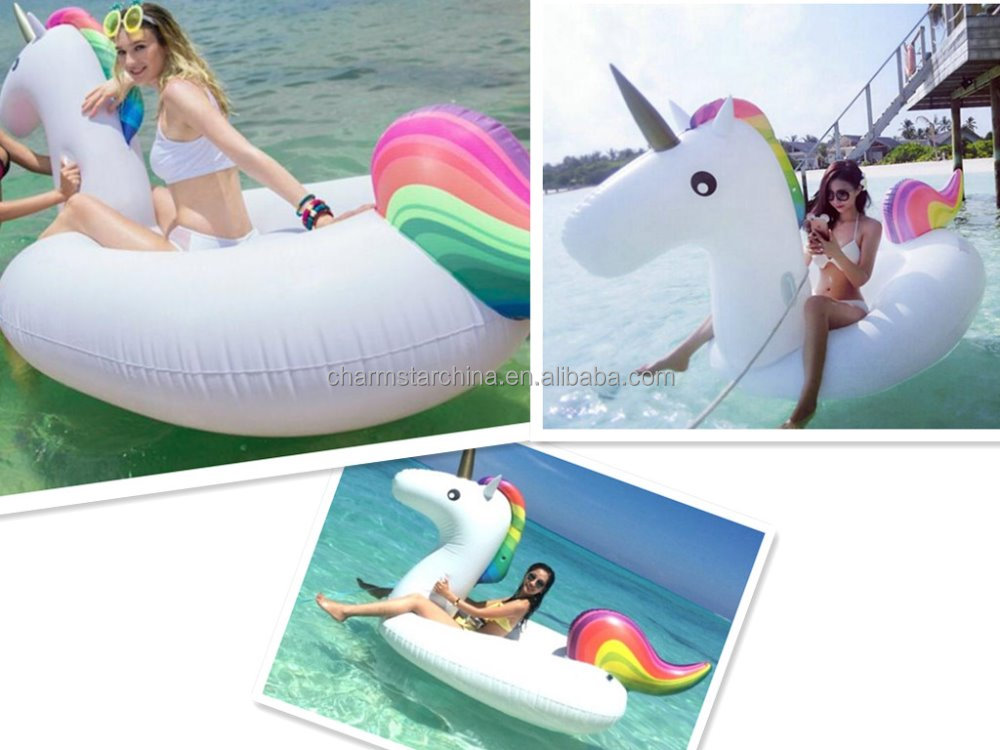 Hot Sale rainbow color eco-friendly water float giant inflatable unicorn in stock