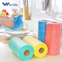 Non-Woven Wiping Paper Rolls With Comfort Cleaning Materials