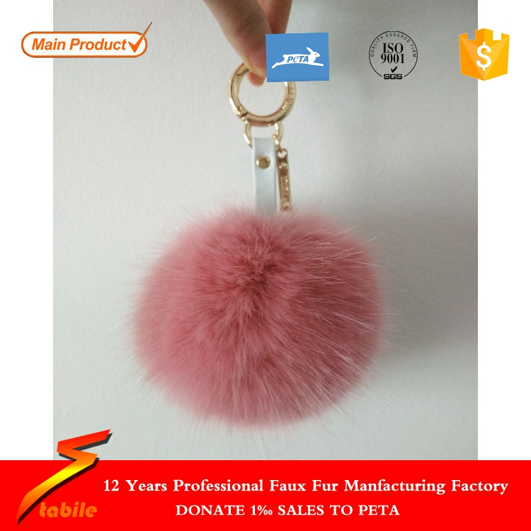 STABILE 2017 lepao swiss fabrics fox fur pom key chain With Promotional Price