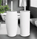 white ceramic toilet brush set