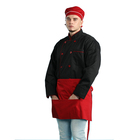 Restaurant hotel jackets long sleeves kitchen uniform black chef coat