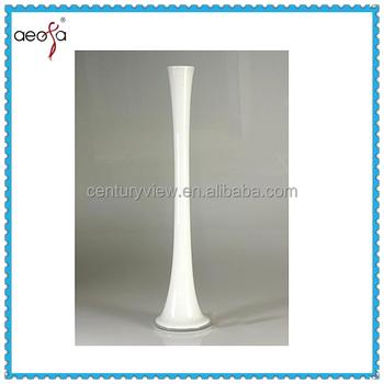 Long Stem Tall Glass Eiffel Tower Vase White Colour Vase For Flower