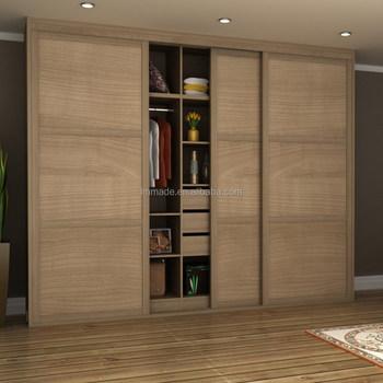 Factory Made Acrylic Bedroom Wardrobe Double Sliding Door Fittings Designs  India