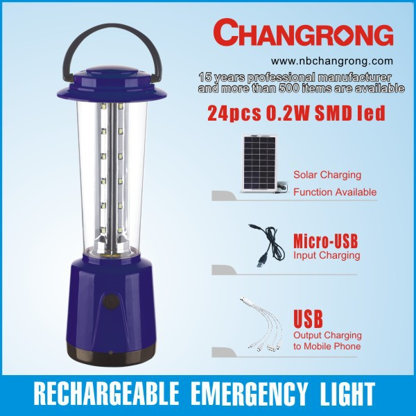 Rechargeable led lamp portable lantern emergency light