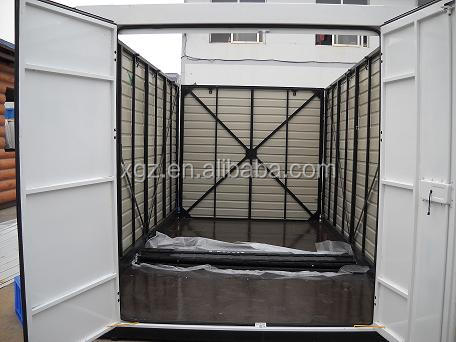 Folding container storage shed